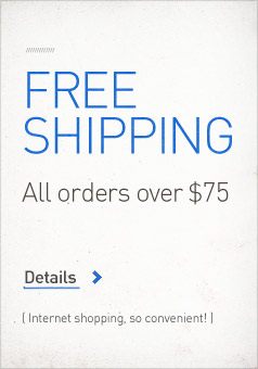 Free Shipping on all orders over $75.