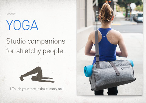 Yoga. Studio companions for stretchy people.