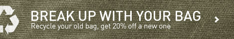 You give us your old bag, we give you 20% off your new bag. Your old bag goes to someone else in need.